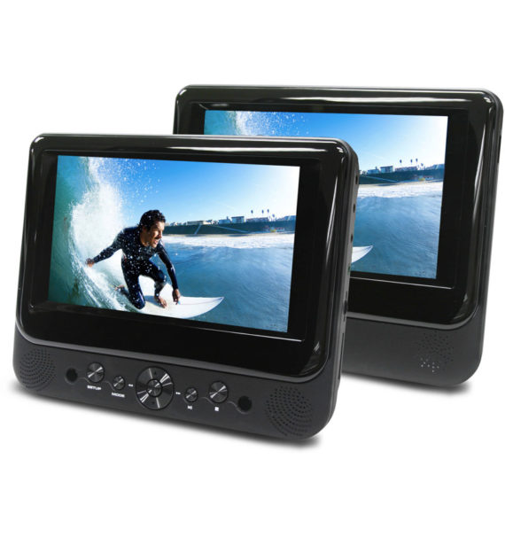"Ematic 7"" Dual Screen Portable DVD Player"