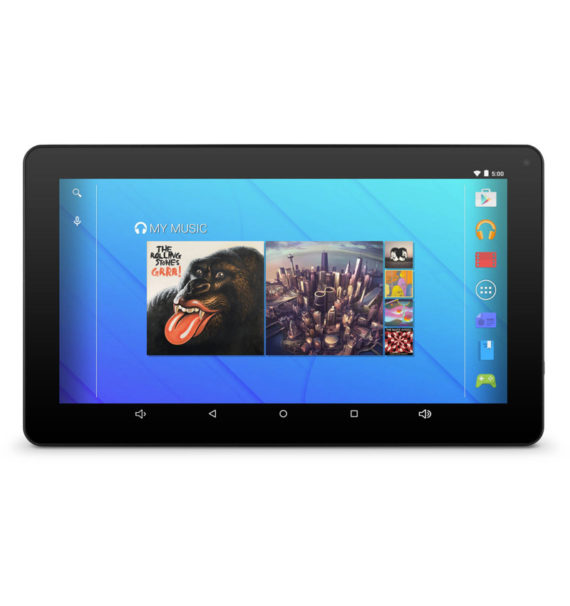 """Ematic EGQ235 10"""" 16GB Android 7.1 Nougat Tablet with Keyboard Folio Case and Headphones"""