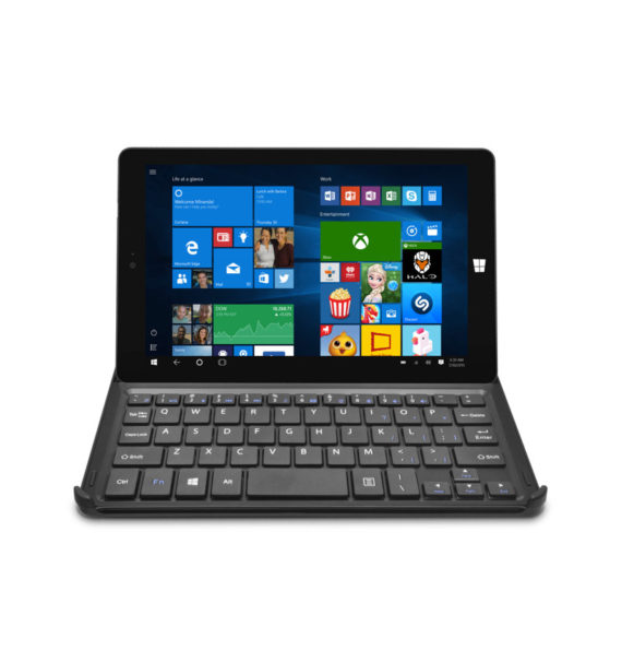 "Ematic 8"" HD 32GB Tablet with Windows 10, WiFi, Intel Atom Z3735g Processor, and Docking Keyboard (EWT826BK)"