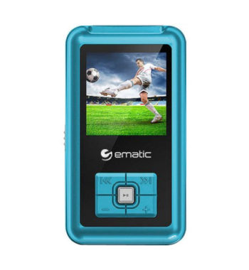 Ematic 8GB MP3/Video Player - Blue, EM208VIDBU