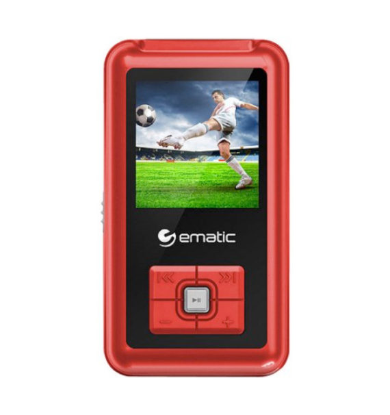 Ematic 8GB MP3/Video Player - Red, EM208VIDRD