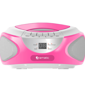 Ematic CD Boombox with AM/FM Radio, Bluetooth Audio and Speakerphone