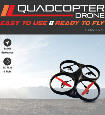 Quadcopter Drone. Easy to use and ready to fly