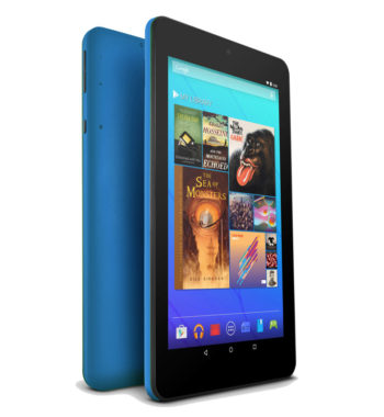 "Ematic EGQ373BU 7"" 16GB Android 7.1 Nougat Tablet with Keyboard Folio Case and Headphones - Blue"