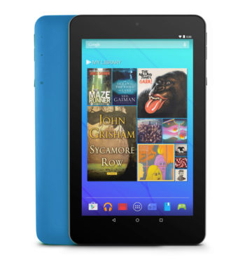 "Ematic EGQ373TL 7"" 16GB Android 7.1 Nougat Tablet with Keyboard Folio Case and Headphones - Teal"