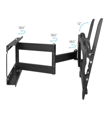 "Ematic Full-Motion Articulating, Tilt/Swivel, Universal Wall Mount for 19""-80"" TVs with 15' HDMI Cable (EMW5206)"