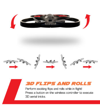 3D Flips and rolls with the press of a button