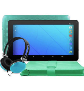 "Ematic EGQ235 10"" 16GB Android 7.1 Nougat Tablet with Keyboard Folio Case and Headphones"