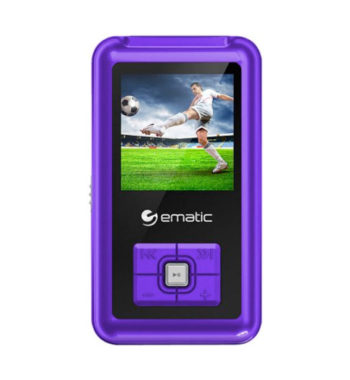 Ematic 8GB MP3/Video Player - Purple, EM208VIDPR