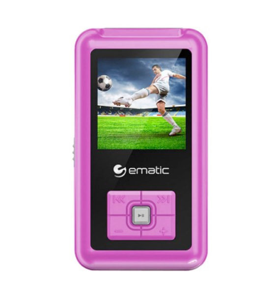 Ematic 8GB MP3/Video Player - Pink, EM208VIDPN
