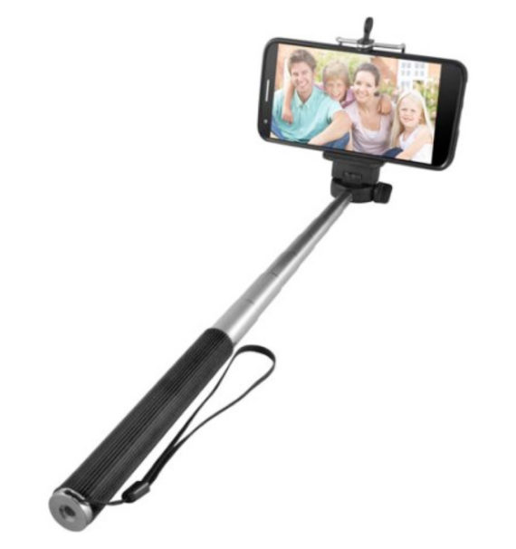 Ematic Extendable Selfie Stick with Bluetooth Shutter Release