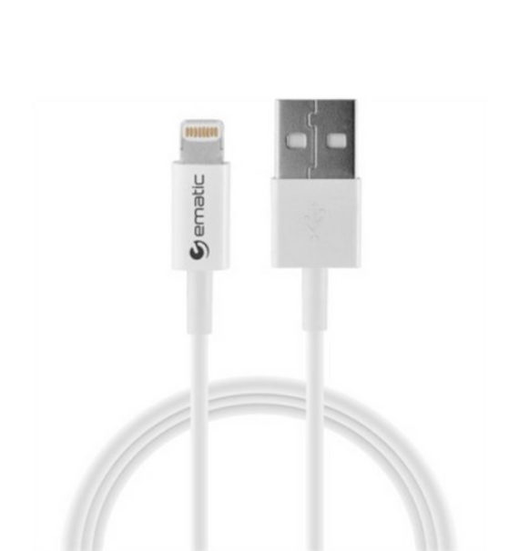 Ematic 3-Foot Charge and Sync Lightning Cable (MFI Certified)