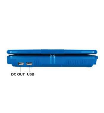 D.C. out, U.S.B. ports